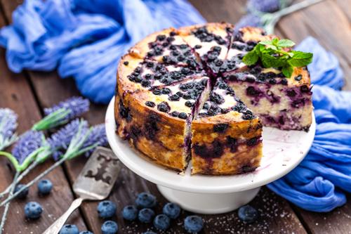 Gâteau Fromage Bleuets